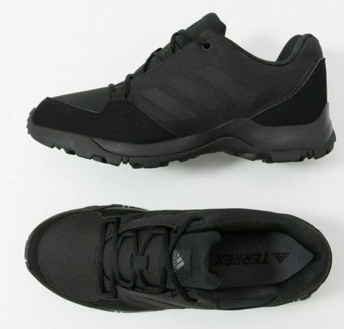 ADIDAS TERREX HYPERHIKER LOW KIDS  BLACK BREATHABLE TRAXION TRAINERS